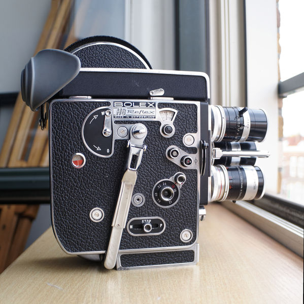 Eine der besten, aber auch größten und schwersten Normal 8-Kameras: Bolex H8 Reflex