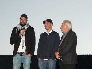 Regisseur (l) und Produzent (m) auf dem FddF
