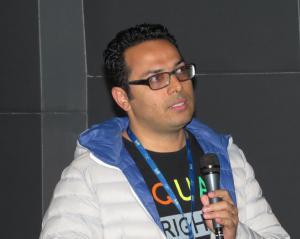 """Ali Asgari bei der Fragestunde nach seinem Film """"Disappearance"""""""