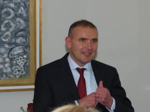 Guðni Th. Jóhannesson, Präsident von Island, beim Empfang zu Ehren von Olivier Assayas