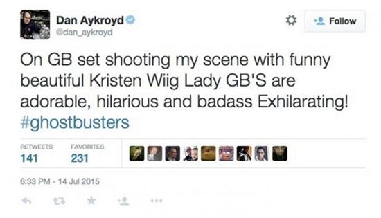 Dan-Aykroyd-Ghostbusters-Tweet-Filmloverss