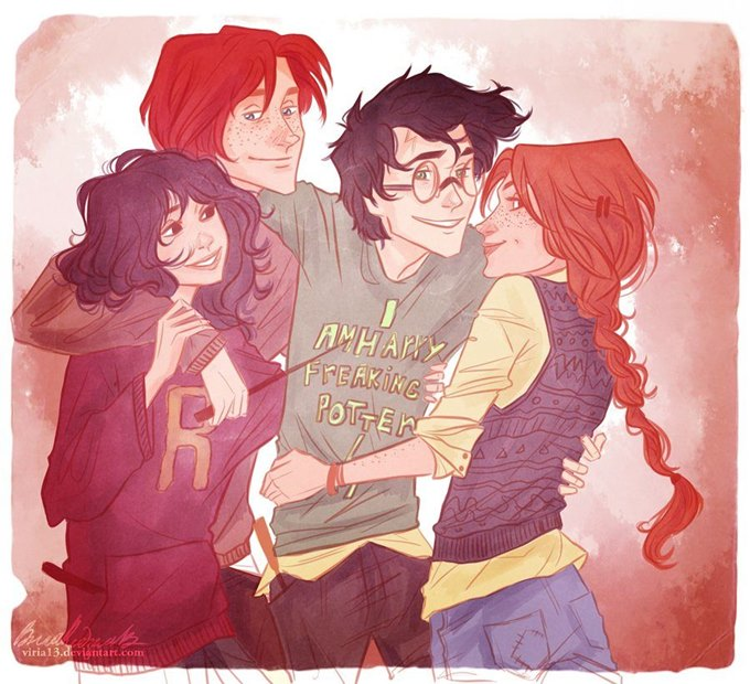 Harry, Ron, Hermione ve Ginny