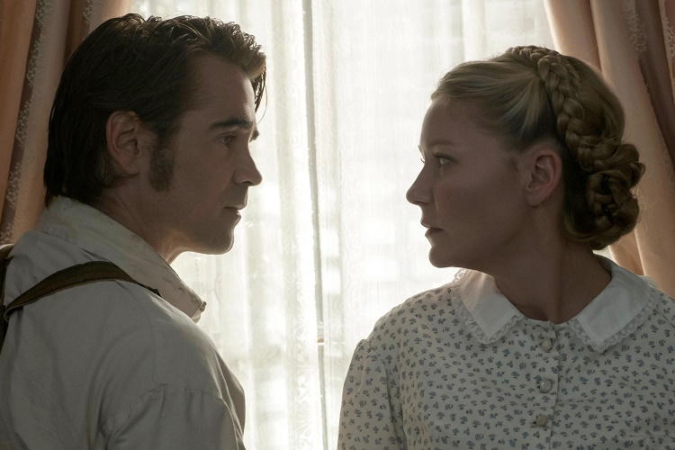 The Beguiled (2017) (L to R) Colin Farrell as John McBurney and Kirsten Dunst as Edwina