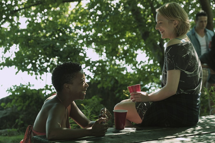"""The Handmaid's Tale -- """"Offred"""" -- Episode 101 -- Offred, one the few fertile women known as Handmaids in the oppressive Republic of Gilead, struggles to survive as a reproductive surrogate for a powerful Commander and his resentful wife. Moira (Samira Wiley) and Offred (Elisabeth Moss), shown. (Photo by: George Kraychyk/Hulu)"""