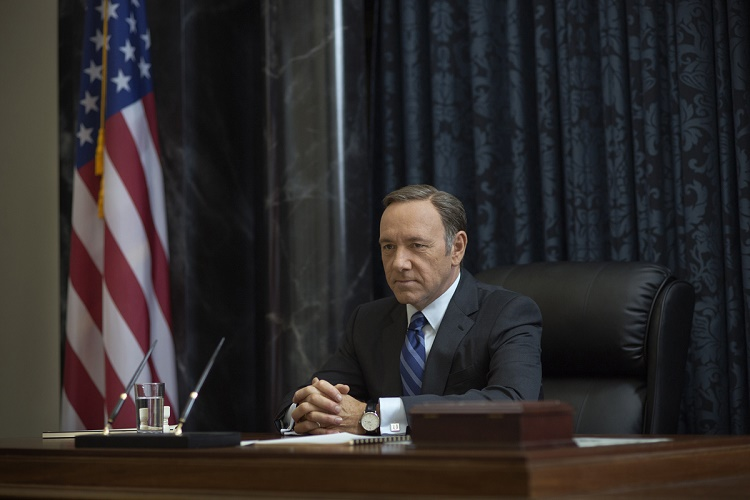 "Kevin Spacey in season 2 of Netflix's ""House of Cards."" Photo credit: Nathaniel Bell for Netflix."