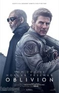 Morgan Freeman & Tom Cruise in Oblivion poster