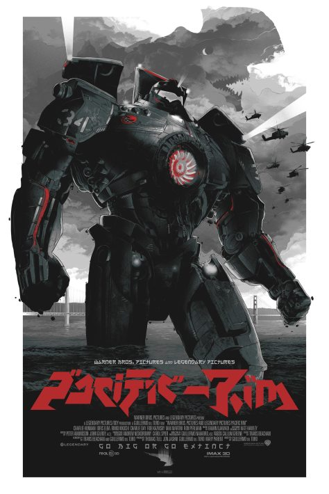 Pacific Rim 'Black & Red' poster