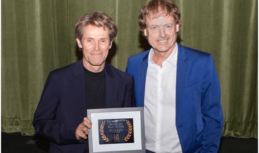 Willem Dafoe wins Edgeware Award for Best Actorat the 2018 UK Film Festival