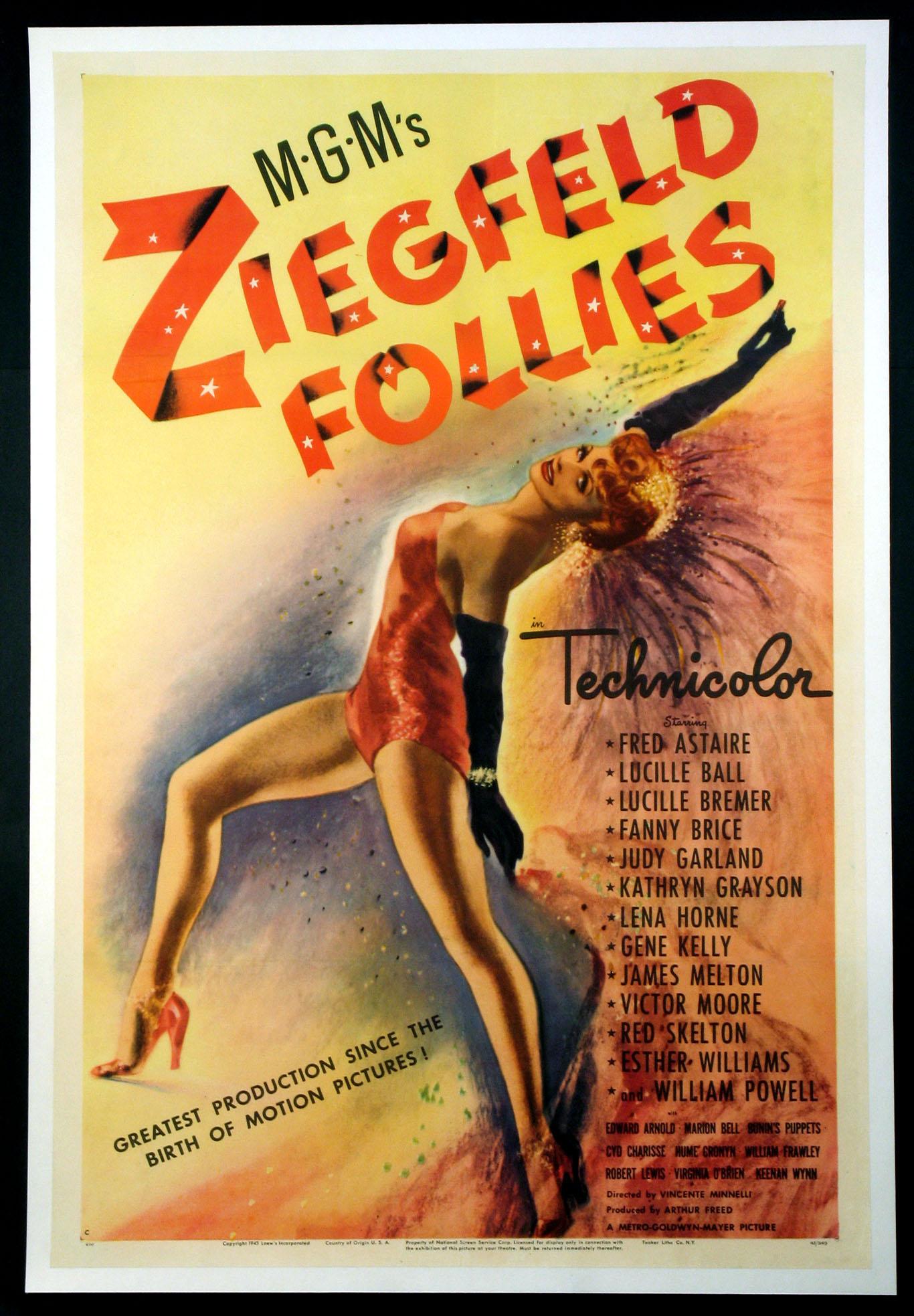 ziegfeld follies movie poster 1945