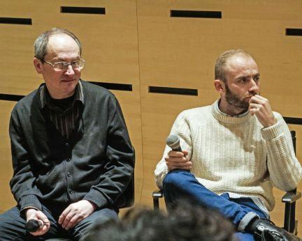 Nae Caranfil şi Tom Wilson. Credit foto: Lucien Samaha & RFI