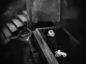Count Orlok in his coffin