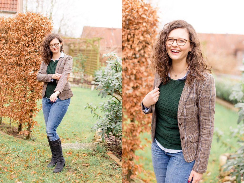 British Chic mit Pullover und Bluse