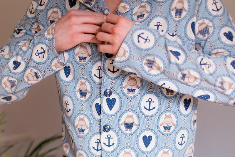 Geschenkidee: Einfacher Herren Pyjama