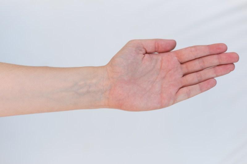 Handgelenk Test für Farbtyp