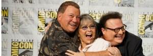 William Shattner, Roseanne Barr and Wayne Knight at ComicCon 2013 (photo credit:  Cirina Catania)