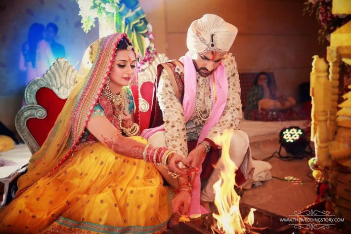 Divyanka Tripathi and Vivek Dahiya Wedding ceremony
