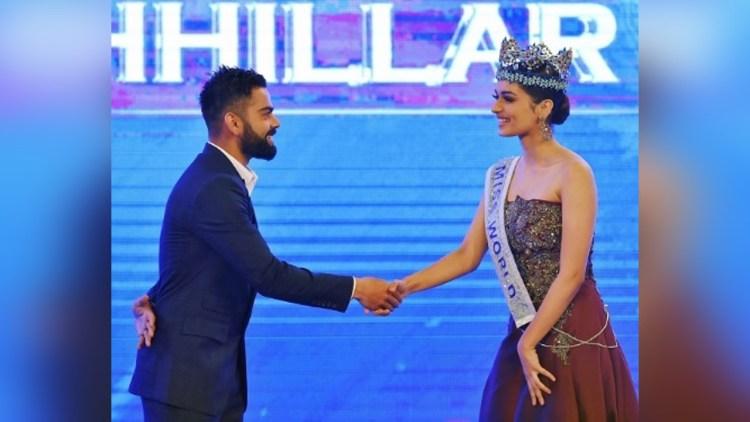 "virat kohli answer manushi Chhillar,virat kohli manushi chhillar,manushi Chhillar,manushi Chhillar asks virat kohli,virat kohli indian of the year,indian of the year,manushi Chhillar miss world 2017"",""title"":""Virat Kohli Answer To Manushi Chhillar Miss World 2017"