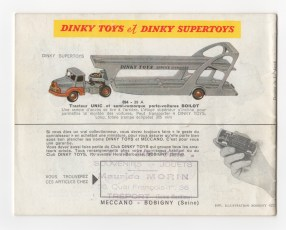 catalogue Dinky Toys 1959
