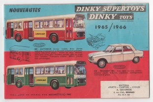 catalogue Dinky Toys 1965 - 1966