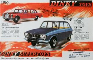 catalogue Dinky Toys 1965