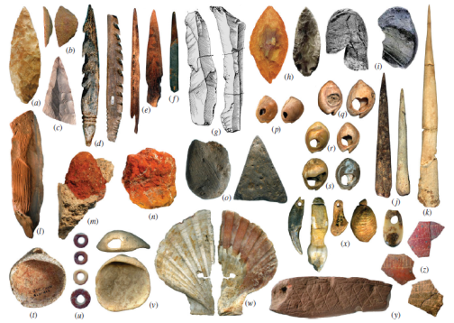 Some of the fanciest stone age tools our ancestors made; all of which were invented after our brain stopped growing. What caused their development?