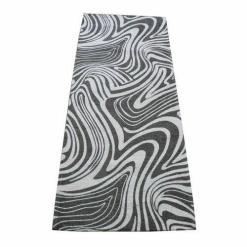 """Tappeto in ciniglia adattabile in diversi ambienti:cucina, soggiorno, bagno o ingresso Realizzato in tessuto a telaio in misto cotone, disegno""""Chariton""""."""