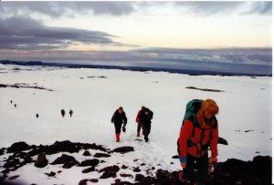 Gengið upp Skógaheiðina - Jónsmessa 1994