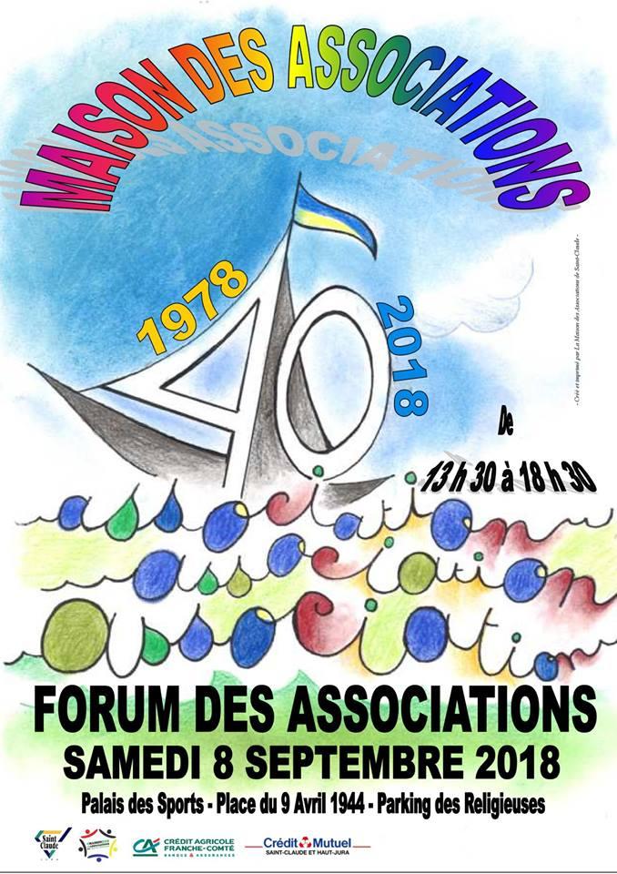 forum des associations de Saint-Claude, septembre 2018