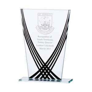 Aztec Edge Glass Award Black