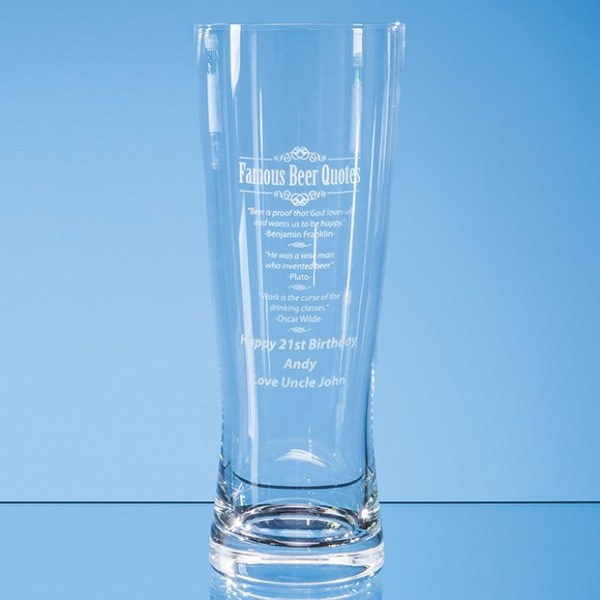 0.7ltr Large Handmade Beer Glass*