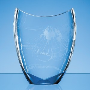 20.5cm Nik Meller Design Clear Optical Crystal & Cobalt Blue Divine Award