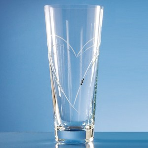 Diamante Conical Vase with Heart Shaped Cutting