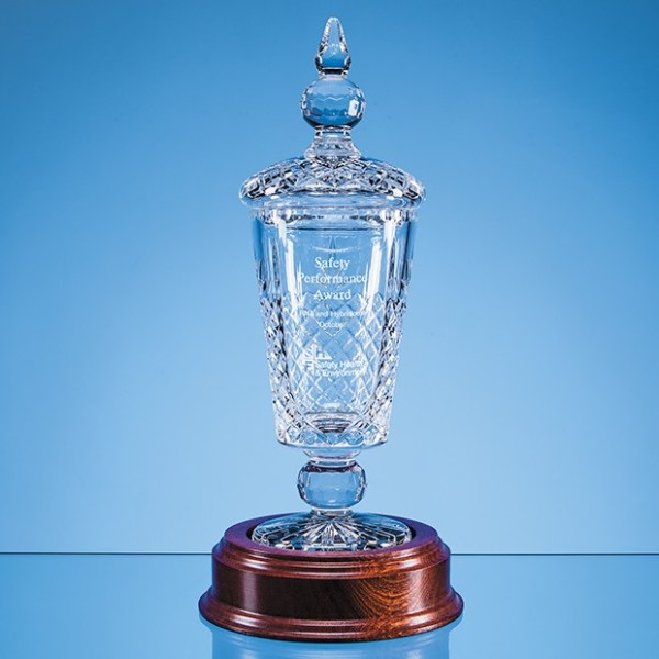 37.5cm Lead Crystal Lidded Presentation Chalice