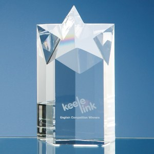 15cm Optical Crystal Star Column Award