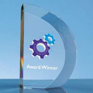 15.5cm Optical Crystal Facet Curve Award