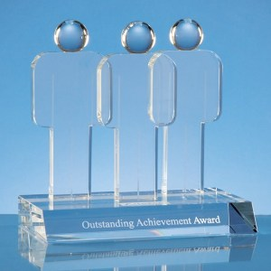 17.5cm Optical Crystal Teamwork Award