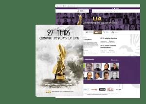 LIA Awards Poster and Web Design