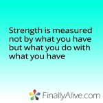 Strength measured