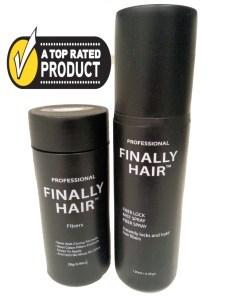hair fibers bottle and strong fiber hold spray