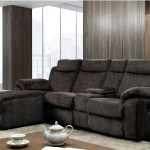 Hardy Reclining Sectional W Push Back Chaise In Dark Grey Linen Furniture Of America Cm6771
