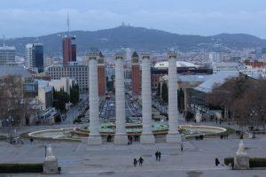Barcellona vista dalla terrazza del Museu Nacional d'Art de Catalunya
