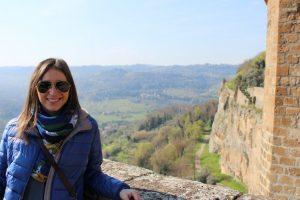 Paesaggi umbri sulle antiche mura di Orvieto