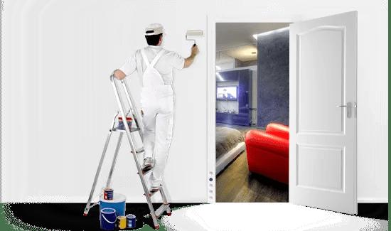 painter man with door