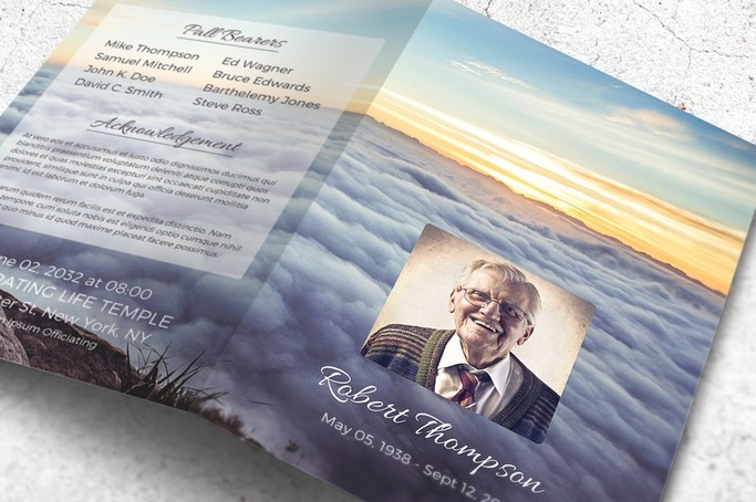 A Memorial Program Template The Heavens Opened