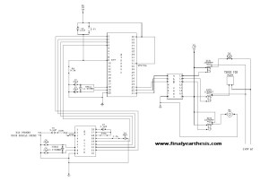 Circuit diagram of Home Automation Using GSM