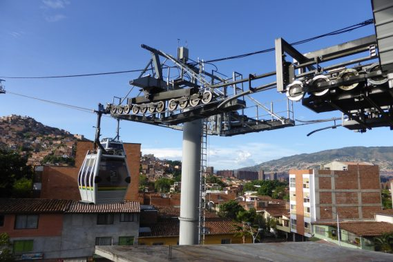 Medellin's Metrocable system that integrates with the city's metro, ensures that the low income residents that live in the city's mountanside neighborhoods have safe, inexpensive access to the city's transportation infrastructure. This is an integral part of Medellin's long term social inclusion strategy.