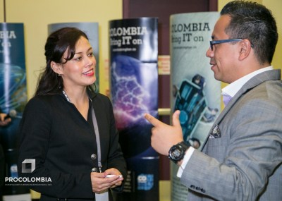 Miryam Lazarte, CEO of Startups LatAm, speaks at an event in Colombia. (Credit: Startups Colombia / ProColombia)