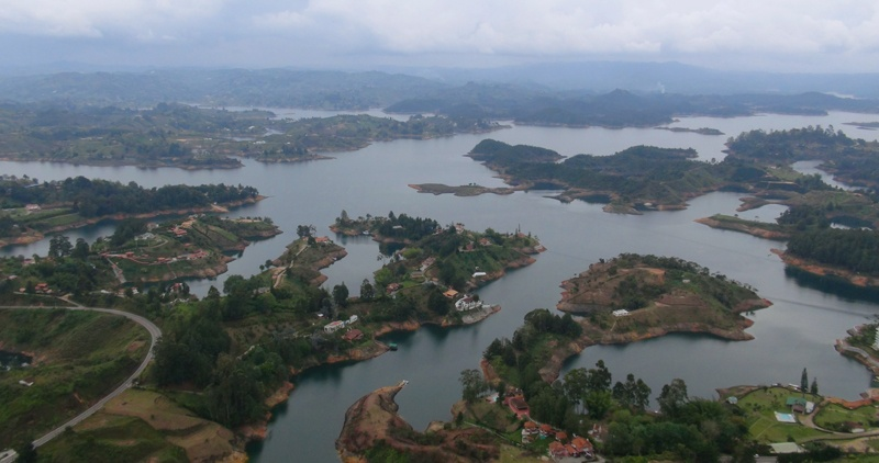Guatape Medellín Antioquia Colombia Ship sinking boat disaster