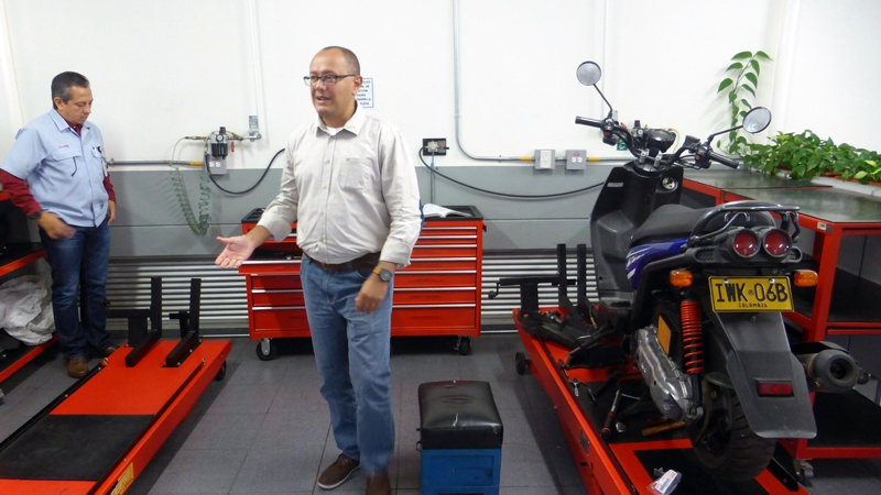 Yamaha Incolmotos plant in Antioquia, Colombia. (Credit: Loren Moss)