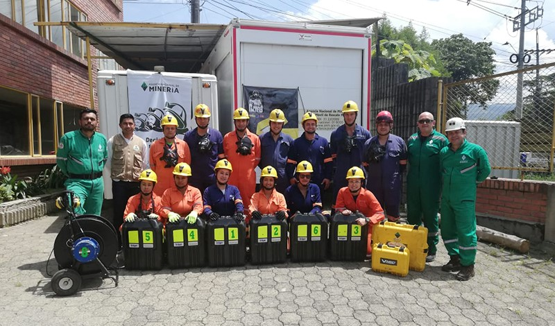 Lina Ramos (first place in BG4 plus rescue equipment mechanics) and the men's team (second place in APH pre-hospital care and mining rescue) qualified for the 12th International Mines Rescue Competition to be held September 2020 in West Virginia, United States.